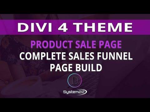 Divi 4 Product Sale Page Complete Sales Funnel Page Build 👈
