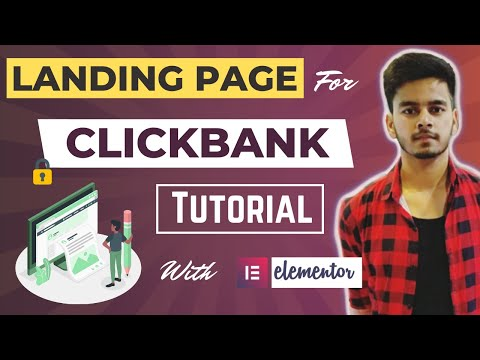 How to create a landing page for clickbank using WordPress   elementor landing page tutorial 2020