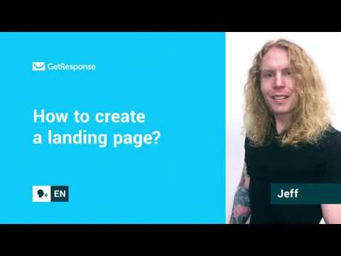 How to create a landing page?   GetResponse FAQ