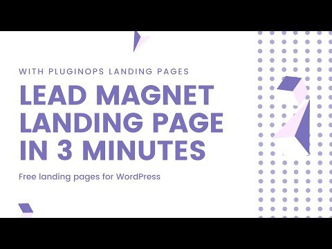 How to build a lead magnet landing page on WordPress