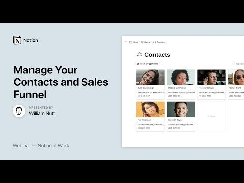 Notion at Work: Manage Your Contacts and Sales Funnel
