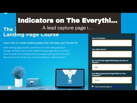 Indicators on The Everything Guide On How to Create A Landing Page That You Need To Know