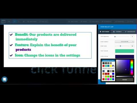 [ClickFunnels Page Editor] How to use the bullet list element