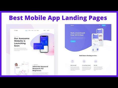 Best mobile app landing page design template inspiration 2021