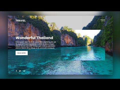 Responsive Website Landing Page Design Using Html and CSS | Responsive Web Design Tutorial
