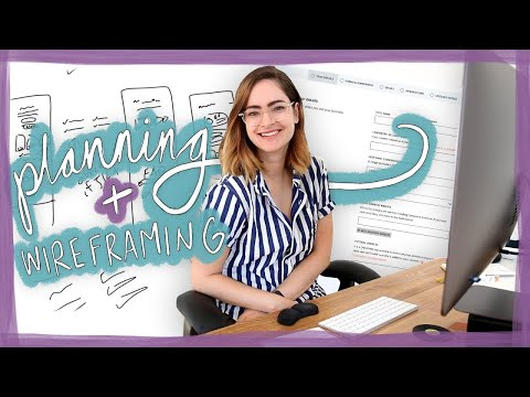 Planning + wireframing a new landing page | Design With Me