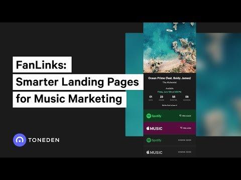 FanLinks: Smarter Landing Pages for Music  Marketing