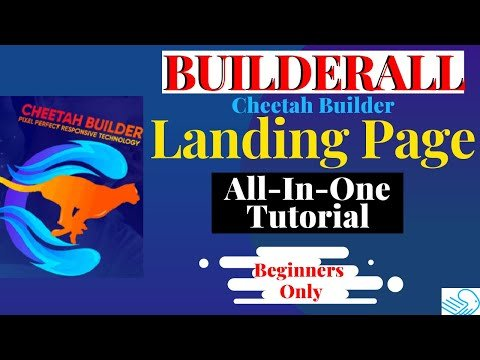 BUILDERALL SALES FUNNEL: How to Create Landing Pages with Builderall Cheetah Builder Step by Step