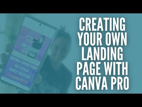 Create Your Own Landing Page With Canva Pro!