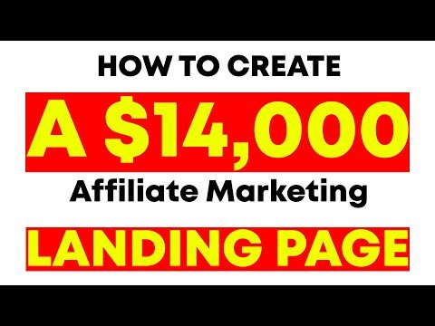 How To Make A Landing Page For Affiliate Marketing (Full Landing Page Tutorial!)