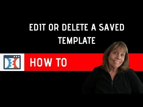 How to Edit or Delete a Saved Template in Click Funnels