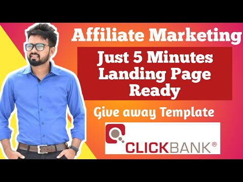 How To Create FREE Landing Page for Affiliate Marketing