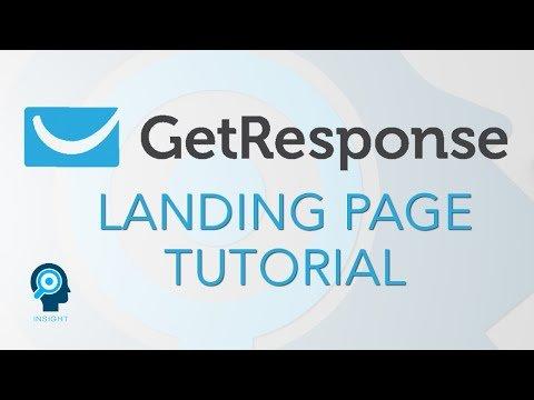GetResponse Landing Page Tutorial 2020