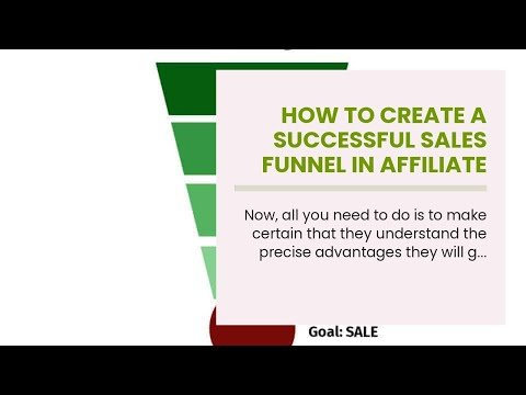 How to create a successful sales funnel in affiliate marketing for Dummies