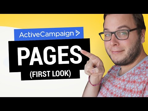 ActiveCampaign Landing Pages: First Look