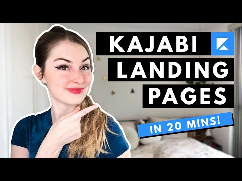 How to create LANDING PAGES in KAJABI in 20 MINUTES flat