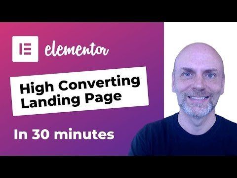 Build a Landing Page in Elementor [in under 30 minutes]