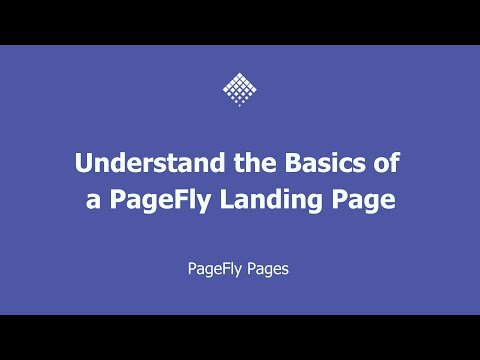 [SUB] Understand the Basics of PageFly Landing Page – Shopify Page Builder