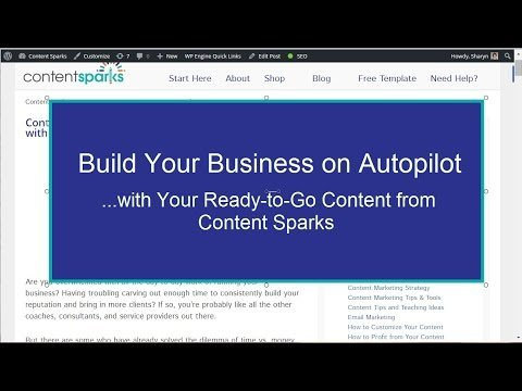 Build Your Automated Content Marketing Funnel – Content Sparks