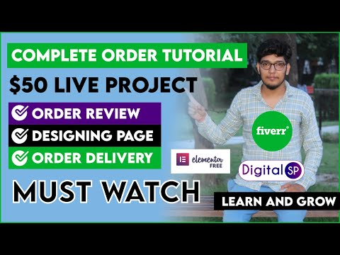 Complete Fiverr Order Tutorial 2020   $50 Landing Page Design + Delivery   MUST WATCH   Digital SP