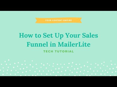 Tutorial: How to Set Up Your Sales Funnel with MailerLite