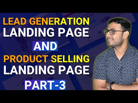 #3 Types of Landing Pages | Different Types of Landing Pages ( Lead Generate & Product Selling Page)