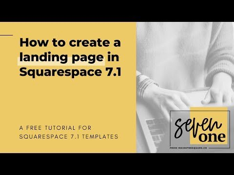 How to create a landing page in Squarespace 7.1 // Squarespace 7.1 Tutorial