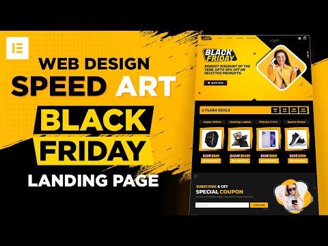 Web Design Speed Art – Black Friday / Deals Landing Page Design – Elementor