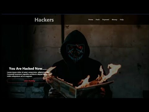 The Hackers Website ( Be Like ) Landing Page Using HTML,CSS AND BOOTSTRAP