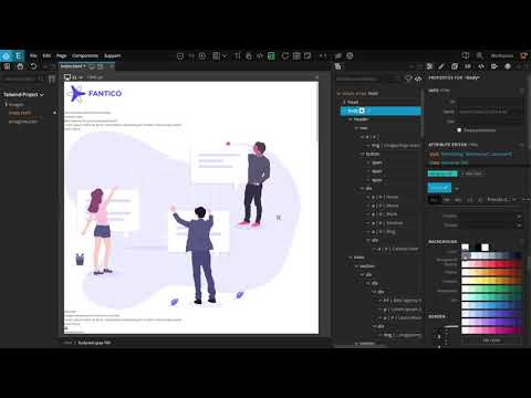 1. Introduction / Creating the project – Creating a Fantico TailwindCSS Landing Page