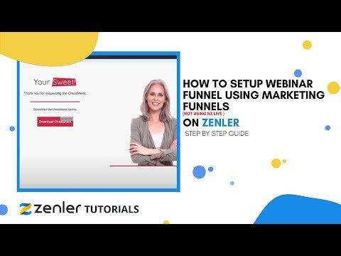 How to setup Webinar Funnel using Marketing Funnels (NOT using NZ Live )