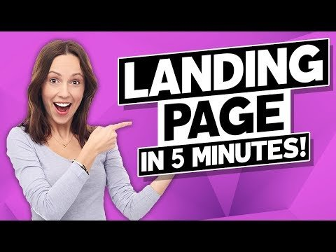 How to Create a Landing Page on WordPress in LESS than 5 minutes? (BEGINNER-FRIENDLY!)