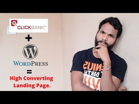 How To Create Landing Page On WordPress For Clickbank (In Hindi)
