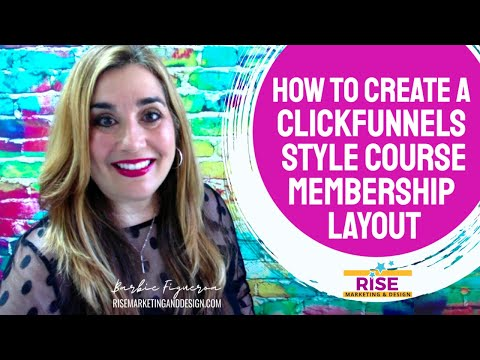 [TUTORIAL] How To Build a *Clickfunnels* Style Membership Site Layout in Builderall