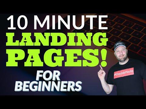Beginner Landing Page Tutorial – 10 Minute Landing Pages That Convert