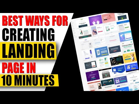 HOW TO CREATE A LANDING PAGE WITH LANDING PAGE BUILDER