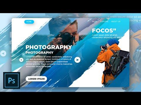 Landing page   Web design   Photoshop Tutorial    Speed Art
