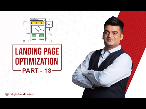 Part 13 | Landing page design | how to design landing page | Tutorial | Course in hindi |