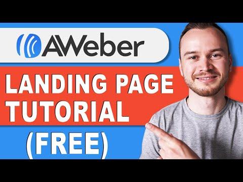 AWeber Landing Page Tutorial 2021 (FREE Landing Page)
