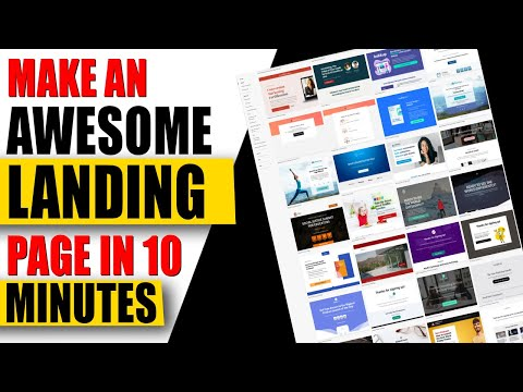 ✅ How to Make a Landing Page Using a Website Builder in 2021