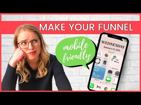 Super Easy ClickFunnels Tutorial | How To Make Your Funnel Mobile-Friendly