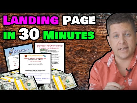 Create A Profitable Landing Page In 30 Minutes – Live!