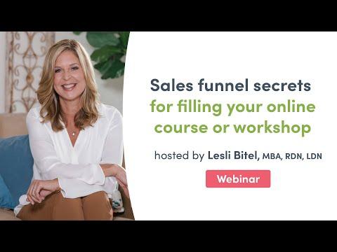 Sales funnel secrets for filling your online course   Fullscript Webinar