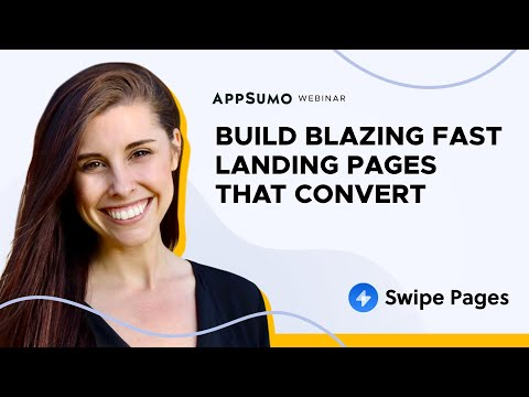 Create professional-quality, instantly loading landing pages w/ no coding required from Swipe Pages