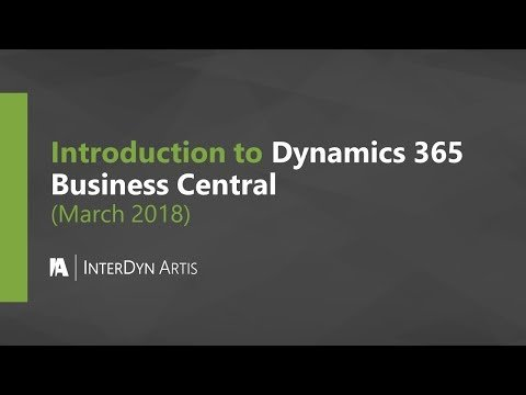 Microsoft Dynamics 365 Business Central Overview (March 2018)