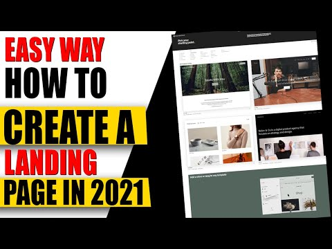 How to Create a Landing Page For Business 2021✅