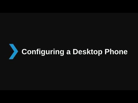 3. Configuring a Local Desktop Telephone V16 – Basic Certification
