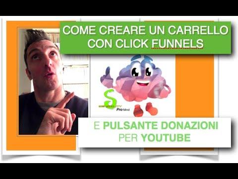 Creare un carrello con Clickfunnels e pulsante donazioni Paypal Youtube