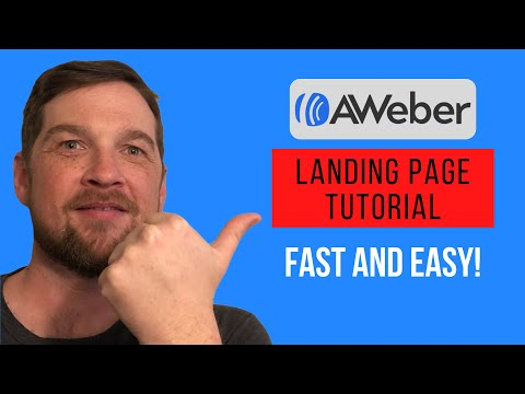 AWBER TUTORIAL: How to Create A Landing Page 2021 (Just like Clickfunnels)| Fast and Easy!