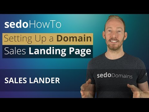 How To Set Up A Domain Sales Landing Page at Sedo